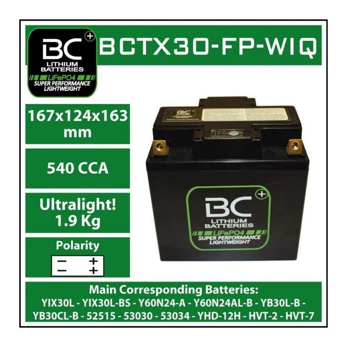 Batteria Litio Lifepo4 Bctx30-fp-wiq 12v. 98wh
