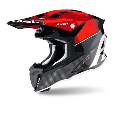 Casco Off Road Airoh Twist 2.0 Tech Red Gloss