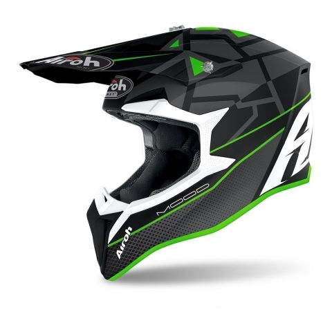 Casco Off Road Airoh Wraap Mood Green Matt