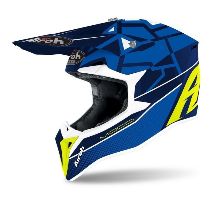 Casco Airoh Off Road Wraap Youth Mood Blue Gloss
