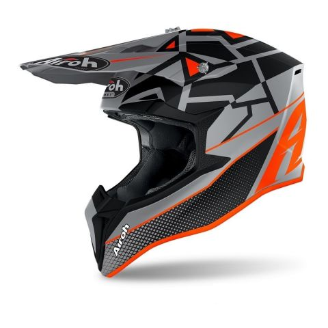 Casco Airoh Off Road Wraap Youth Mood Orange Matt