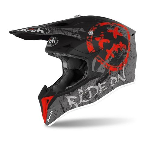 Casco Airoh Off Road Wraap Youth Smile Red Matt