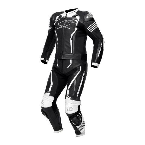 Tuta In Pelle 2 Pezzi Spyke Assen Sport 2.0 Black/white