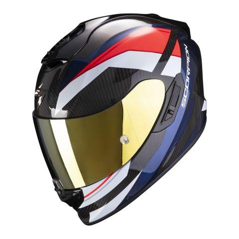Casco Integrale Scorpion Exo-1400 Carbon Air Legione Red Blue