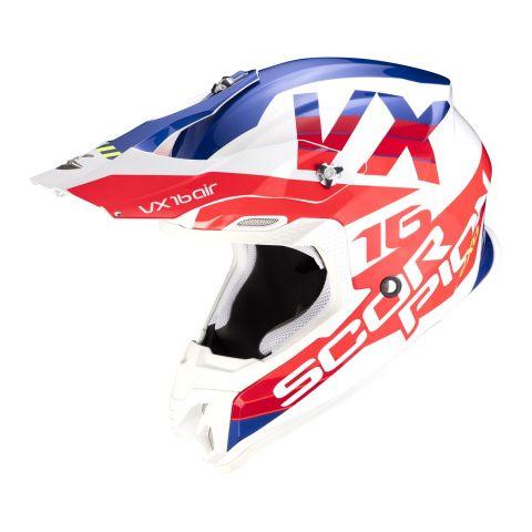 Casco Off Road Scorpion Vx-16 Air X-turn White Red