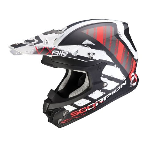 Casco Off Road Scorpion Vx-21 Air Urba Matt Black White Red