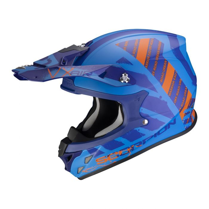 Casco Off Road Scorpion Vx-21 Air Urba Matt Blue Orange