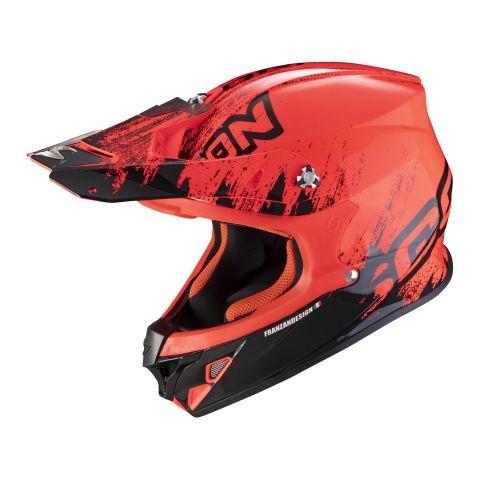 Casco Off Road Scorpion Vx-21 Air Mudirt Black Neon Red