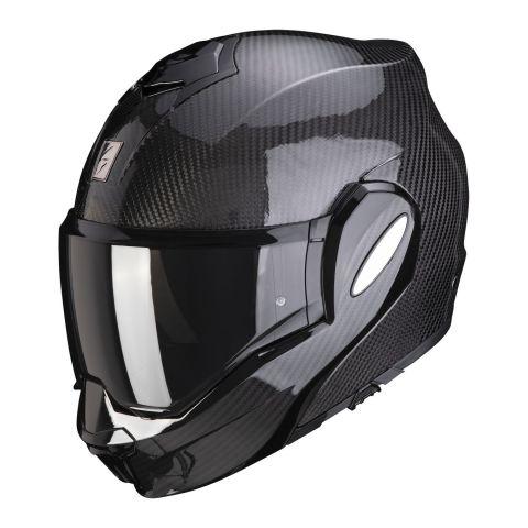 Casco Modulare Flip Back Scorpion Exo-tech Carbon Solid Black