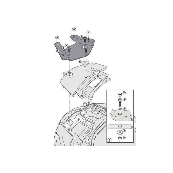 GISR3104MM.jpg| GIVI SR3104MM PORTAPACCHI SUZUKI BURGMAN 650