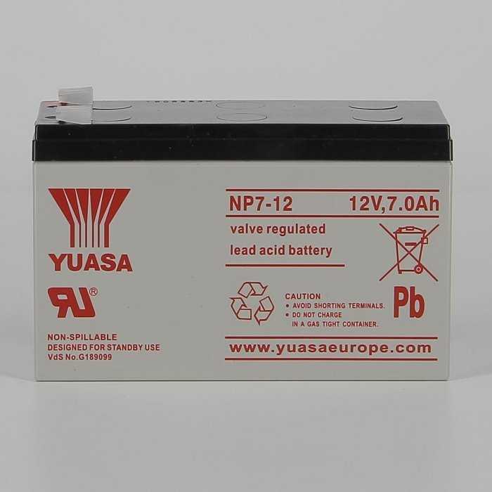 yunp712-hd-0000.jpg| BATTERIA AL PIOMBO YUASA NP7-12  7AH 12V