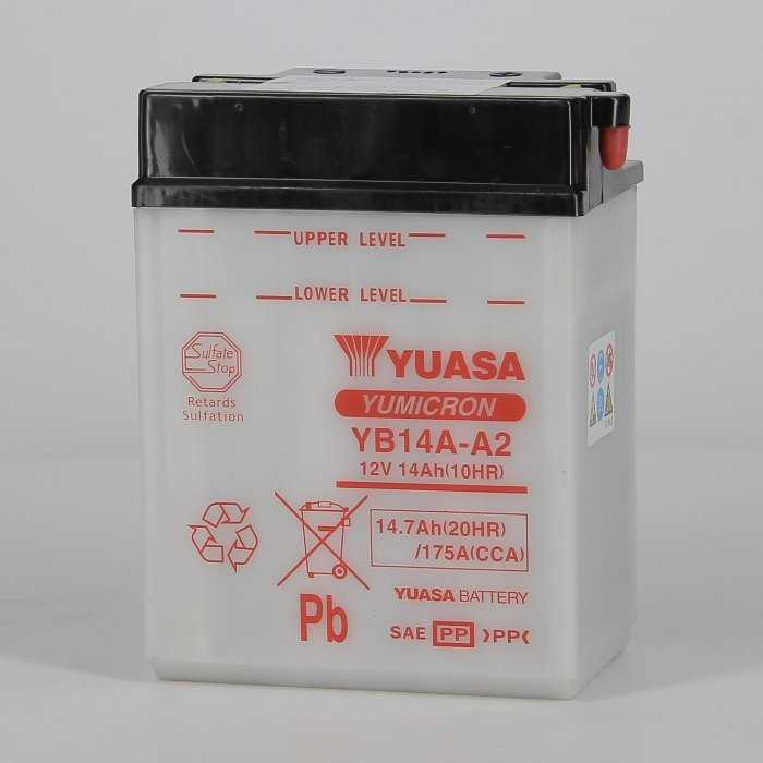 yuyb14aa2-hd-0000.jpg| BATTERIA YUASA YB14A-A2 12V. 14AH.