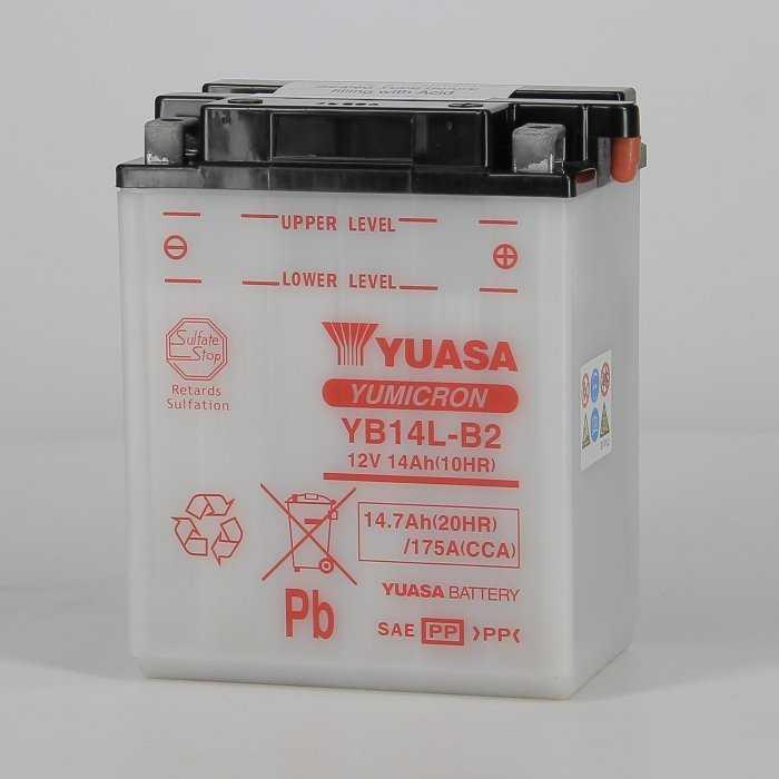 yuyb14lb2-hd-0000.jpg| BATTERIA YUASA YB14L-B2 12V. 14 AH.