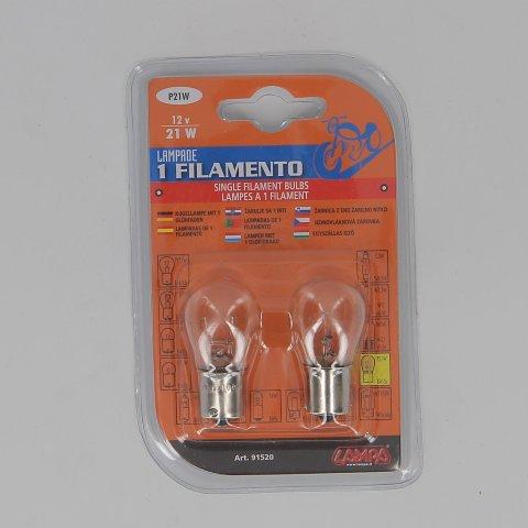 la91520-0000.jpg| COPPIA LAMPADINE LAMPA 1 FILAMENTO 21W BA15S