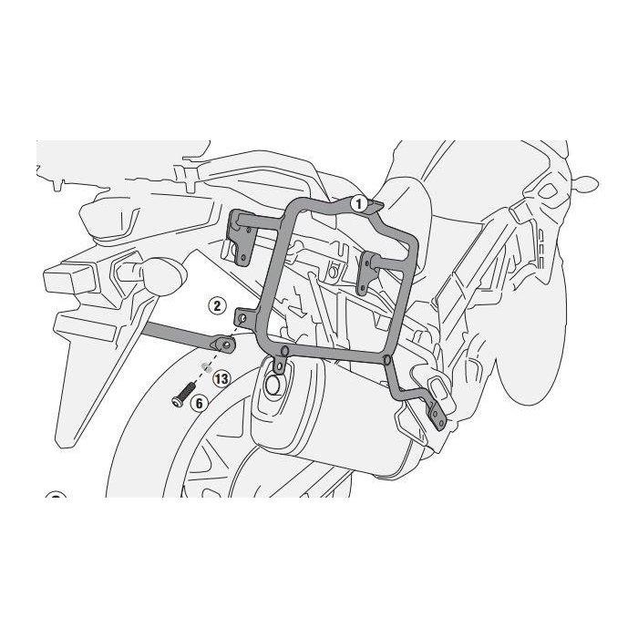 portavaligie laterale suzuki dl650