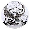 Emblema Adesivo Zodiac Live To Ride 2 1/2