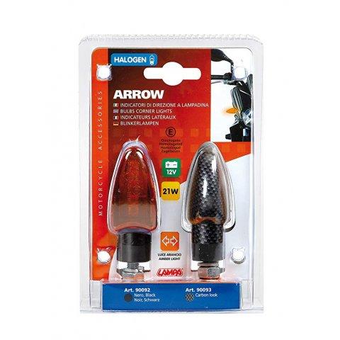 Coppia Frecce Lampa Carbon Arrow Vetro Arancio