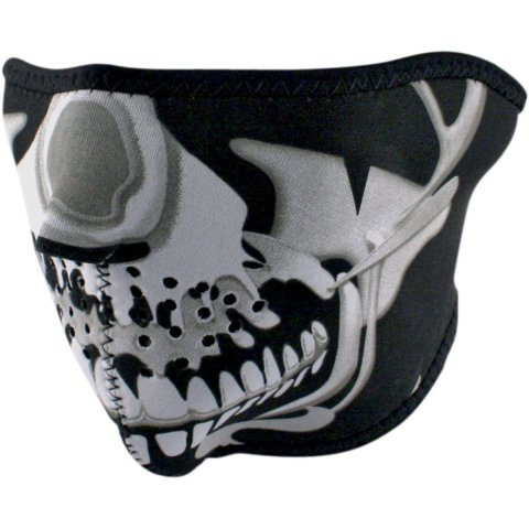 Mascherina In Neoprene Zan Headgear Chrome Skull