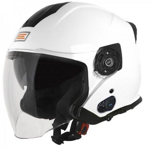 Casco Jet Con Bluetooth Origine Palio 2.0 Solid White