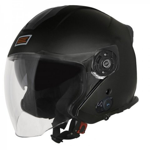 Casco Jet Con Bluetooth Origine Palio 2.0 Solid Matt Black