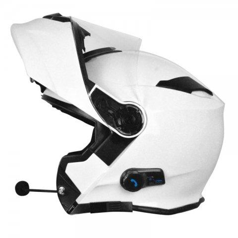 Casco Modulare Con Bluetooth Origine Delta Solid White