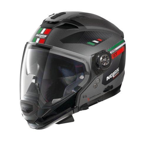 Casco Nolan N70-2 Gt Bellavista N-com Flat Lava Grey Itali