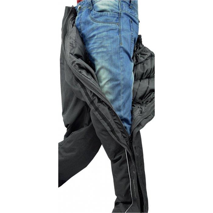 Pantalone Imbottito Msk Pit Stop Con Protezioni E Zip Totale Nero