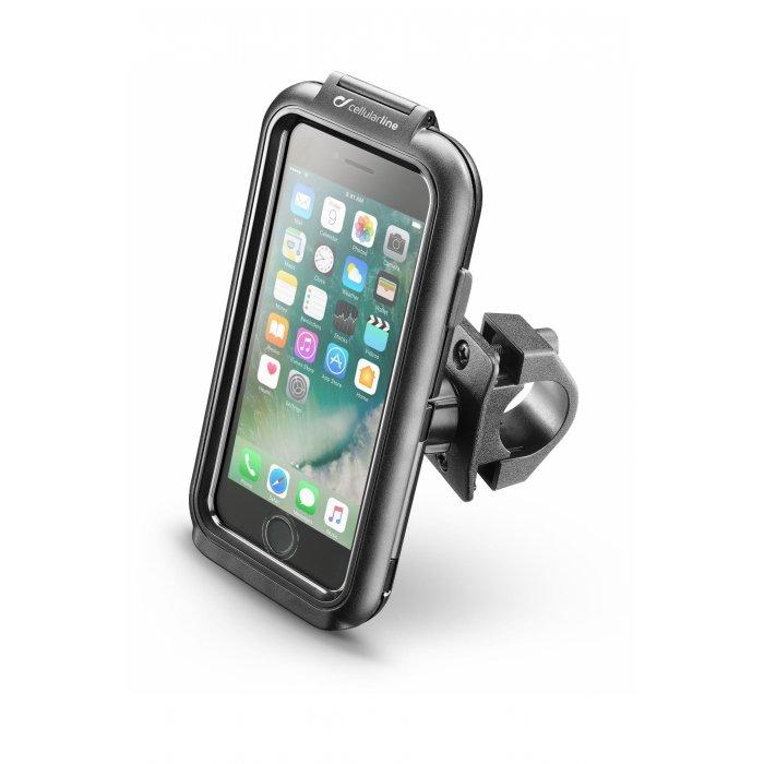 Supporto Moto Cellularline Per Iphone 8 Fissaggio A Tubolare