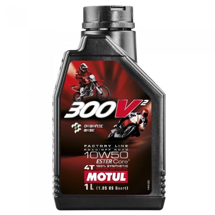 Motul 300v2 Fl Road Racing & Off Road 10w-50 1l
