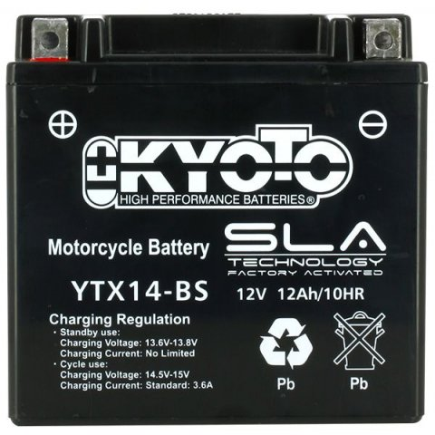 Batteria Moto Kyoto Ytx14-bs - Sla Agm