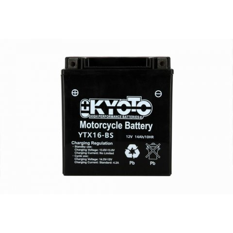 Batteria Moto Kyoto Ytx16-bs - Senza Manut Acido