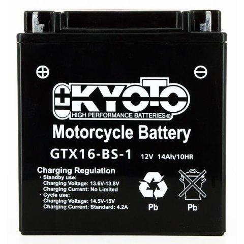 Batteria Moto Kyoto Ytx16-bs-1 Senza Manut Acido