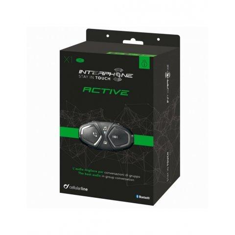 Interphone Active Pack Singolo - Interfono Per Moto Bluetooth