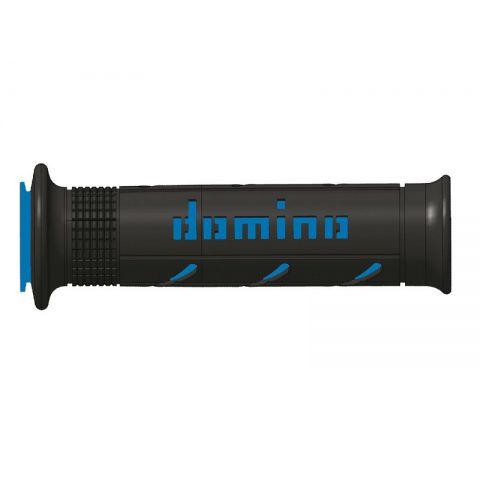 Manopole Domino A250 Stradali 120mm Nero Blu Softroad