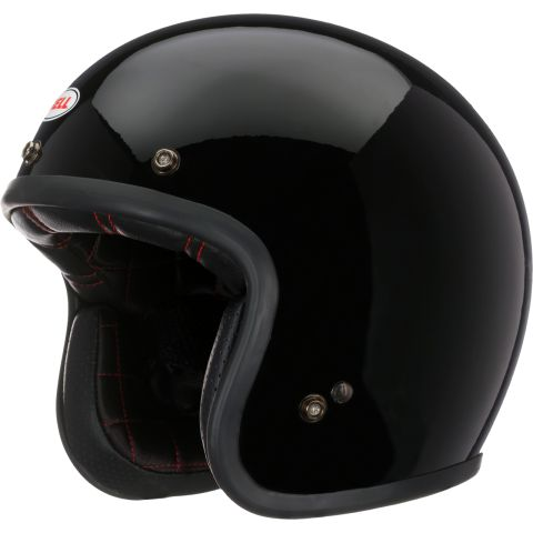 Casco Jet Bell Custom 500 Solid Gloss Black