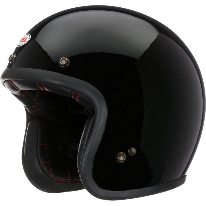 Casco Jet Bell Custom 500 Solid Gloss Black