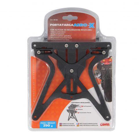 Porta Targa Lampa Aero-x Con Altezza Ed Inclinazione Regolabili