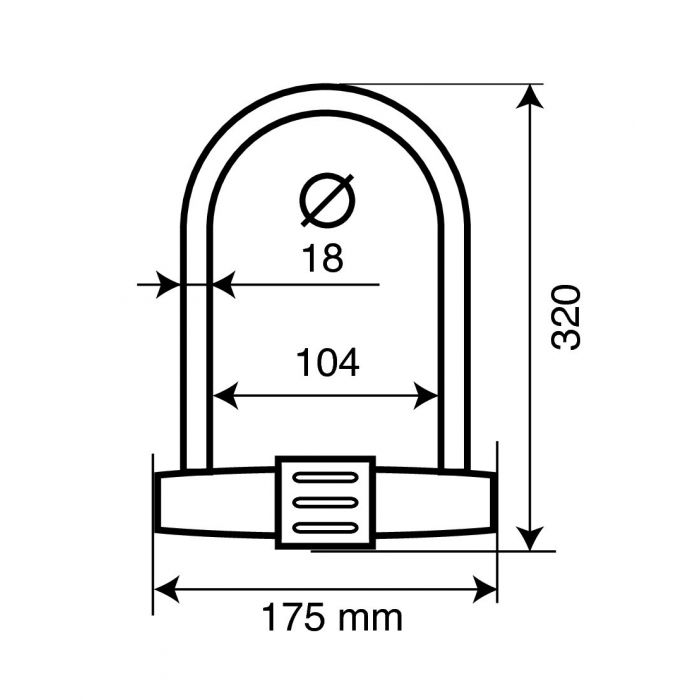 Lampa 90609 Strength Lucchetto ad Arco