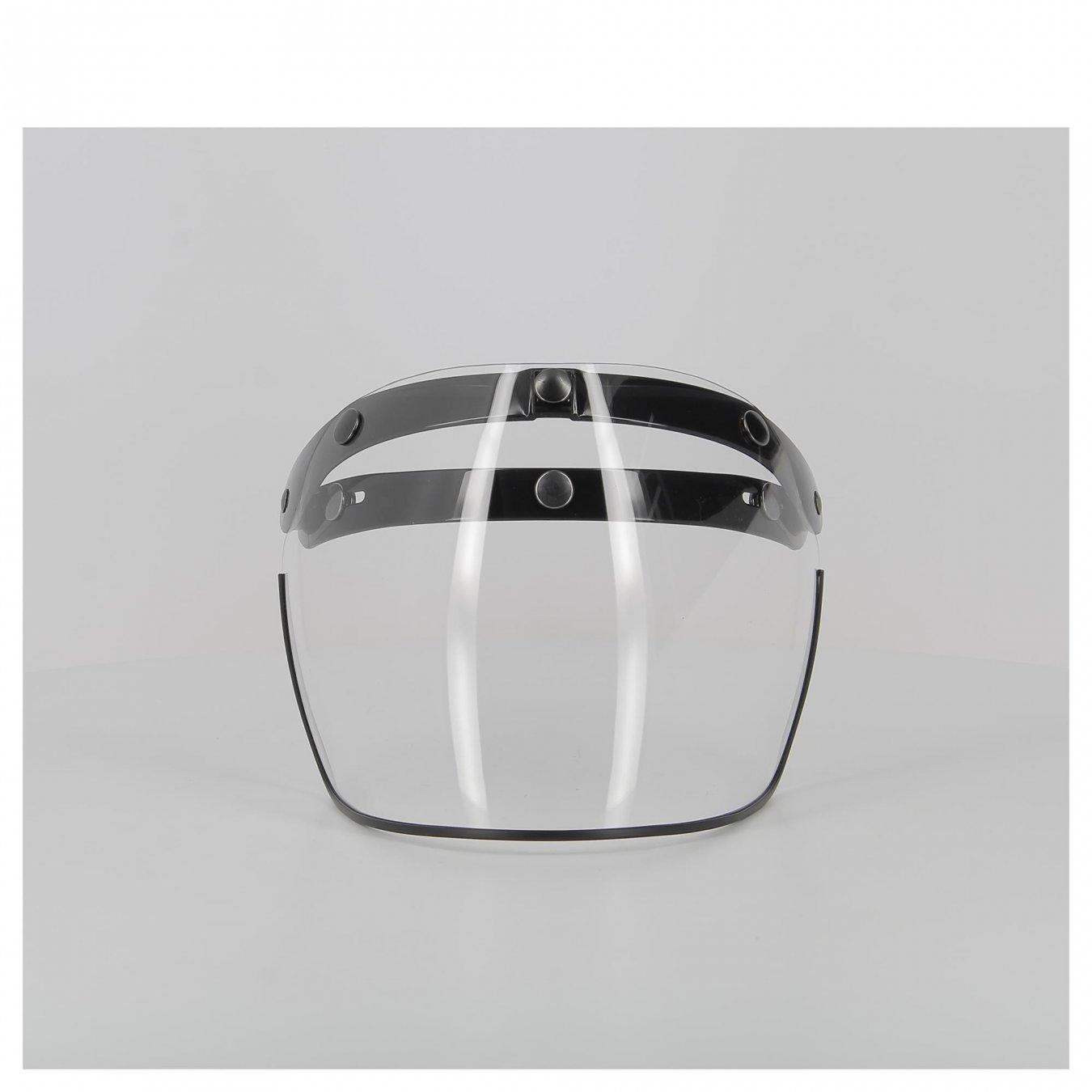 apribile Visiera casco a 3 bottoni