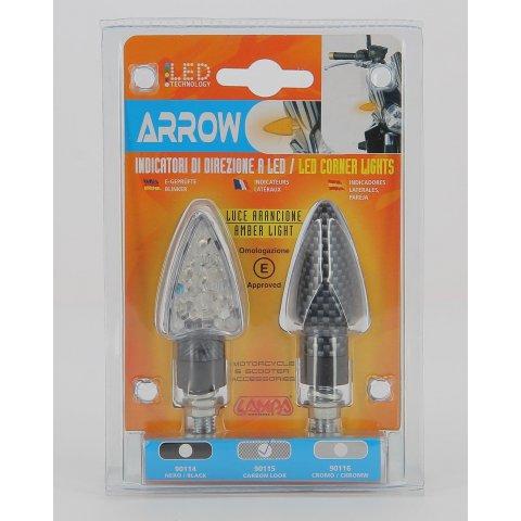 la90115-hd-0000.jpg| COPPIA FRECCE AL LED LAMPA OMOLOGATE MOD ARROW CARBON LOOK