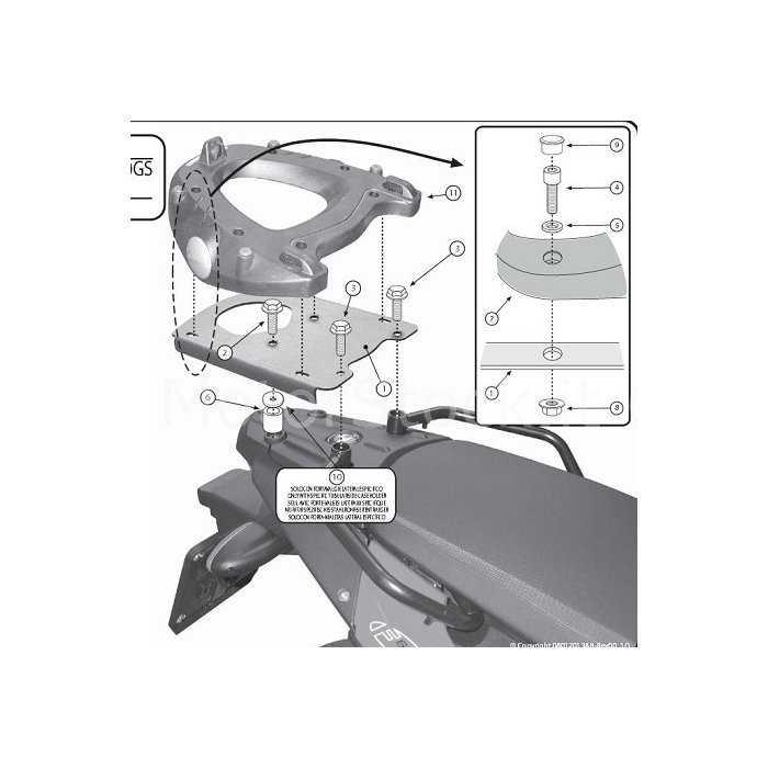 GISR5107.jpg| PORTAPACCHI GIVI SR5107 BMW F650GS F700GS F800GS