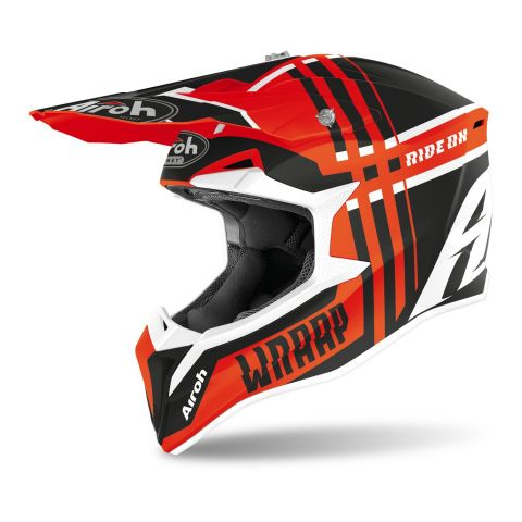 Casco Off Road Airoh Wraap Broken Orange Matt