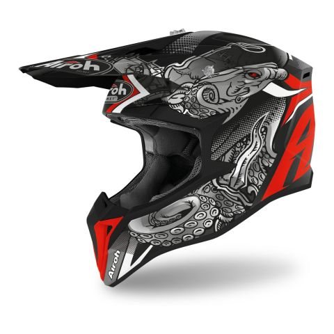 Casco Off Road Airoh Wraap Octopus Matt