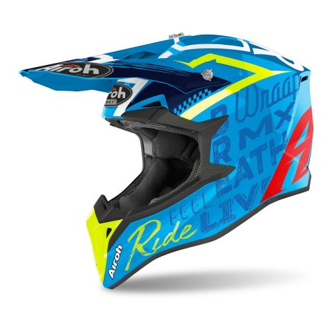 Casco Off Road Airoh Wraap Street Azure Gloss