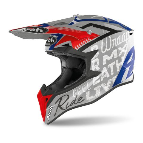Casco Off Road Airoh Wraap Street Grey Metal Gl