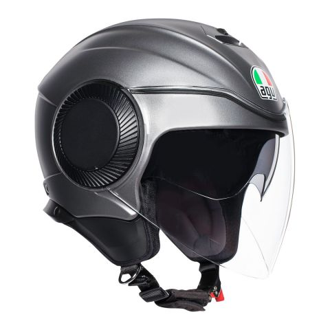 Casco Jet Agv Orbyt E2205 Solid Matt Grey