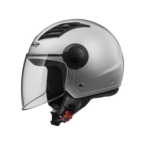 Casco Jet Ls2 Of562 Airflow Gloss Silver Long