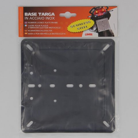la90148-0000.jpg| BASE TARGA IN ACCIAO INOX NERO