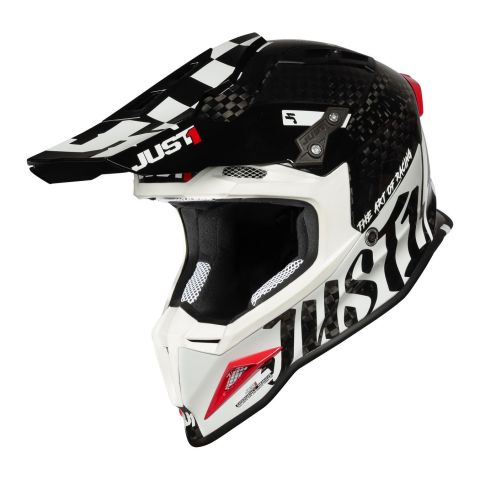 Casco Off-road / Cross Just1 J12 Pro Racer White Carb