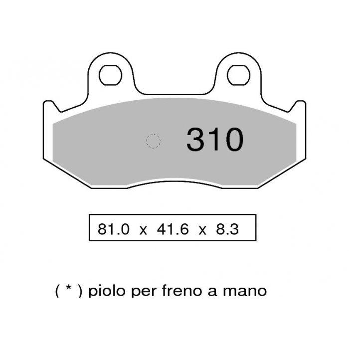 Coppia Pastiglie Freno Trofeo...